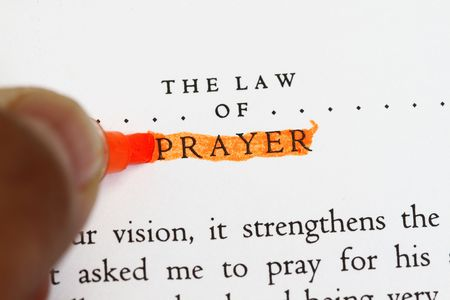 preamble: The law of prayer highlighted - text from universal law.