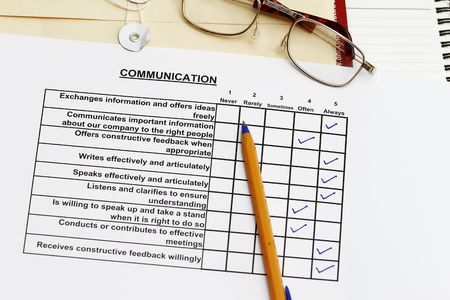 Communication survey - many uses in the company HR advancement program. Stock Photo - 6103460