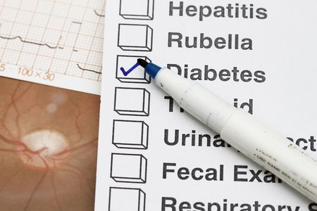 Madical result with check on the diabetes. Stock Photo - 6103465