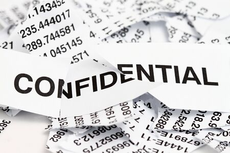 shredded paper: Confidential papers just shredded for security protection