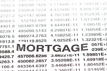Mortgage Rate all numbers for background use. Stock Photo - 6383675