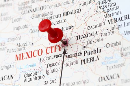 looked: New Mexico city the way we looked in the map with pin. Stock Photo