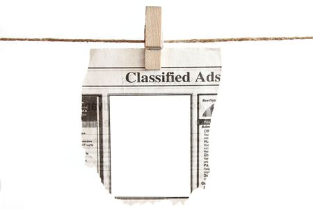 Blank Classified Ads ready for your text placement on the blank provided. Stock Photo - 6411922