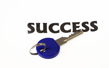 Key to Success concept - isolated in white background. Stock Photo - 6606001
