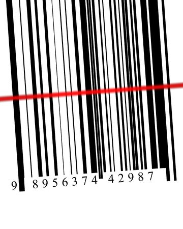 Barcode with scanner in digital format high resolution 3D photo