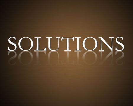 Solutions illustration high resolution with gradient background. Stock Illustration - 6675097