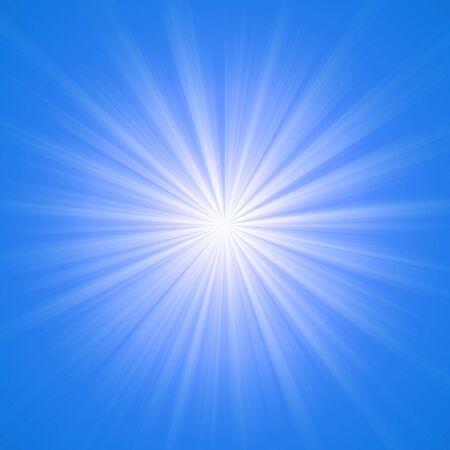 ray: Heaven blue lights illustration high resolution digital. Stock Photo