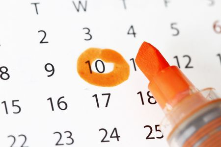 Calendar with date highlight concept for schedule or appoinment dates. Stock Photo - 6675138