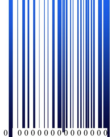 Barcode in digital format high resolution with all zero numbers. photo