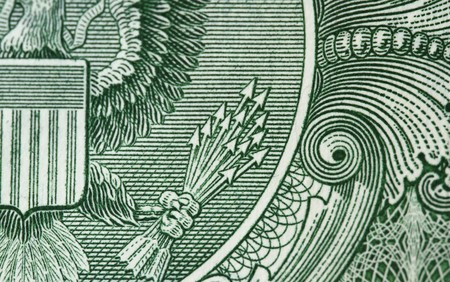 Detail of one dollar bill - with the 13 arrow as the focus subject. Stock Photo - 7237275