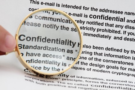 confidentiality: Words  Stock Photo
