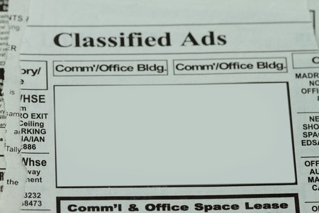 Blank space for your Classified ads - put your text on the blank space. photo