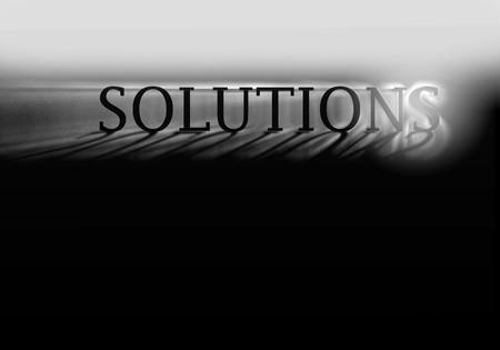 Solutions with reflection digital high resolution illustration illustration