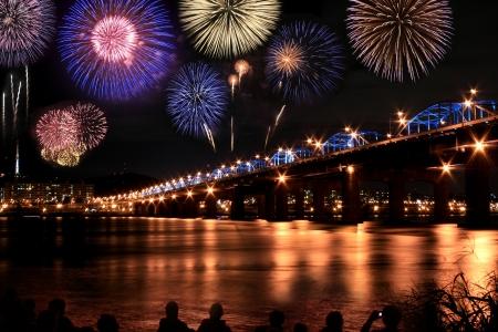 happening: Spectacular fireworks festival at han River Seoul Korea