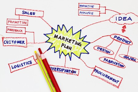 Marketing plan abstract in a graphic presentation photo