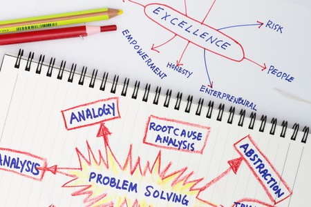 Problem solving abstract- many uses in the manufacturing industry Stock Photo - 8160300