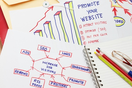 How to increase web site visitor abstract Stock Photo - 8402826