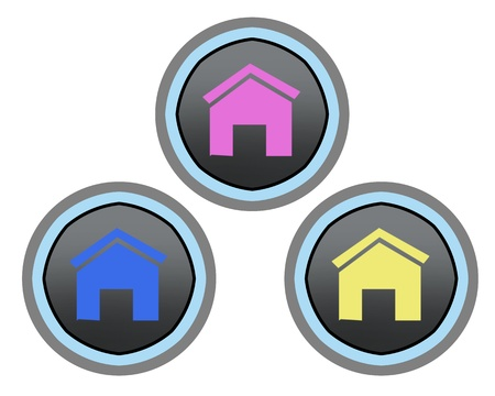 Modern home button ilustration high resolution digital Stock Photo - 8461329