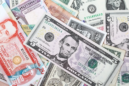 Background of money currency cash from around the world Stock Photo - 8775610