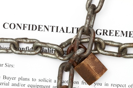 Lock and chain in confidentiality agreement background