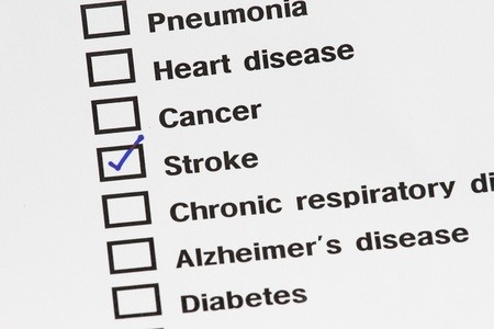 medical result showing stroke with check on medical result document. Stock Photo - 8896582
