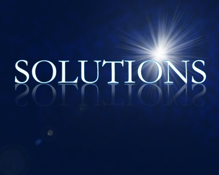 business solution: Solutions 3d with reflection high resolution digital
