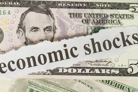 Economic shock on five dollar close up Stock Photo - 10472094