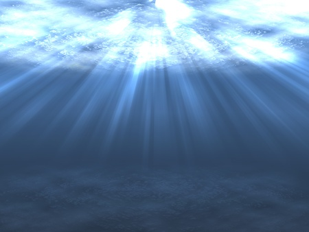 abyss: Water surface seen from below (rendered image)