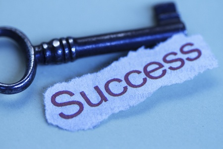 The keys to success abstract in bluish color background photo