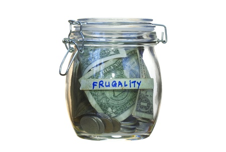 frugality: Donation or Frugality concept or whatever purpose you want- fill the copyspace with your own text