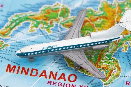 Travel to Manila concept with map and airplane toy Stock Photo - 11952834