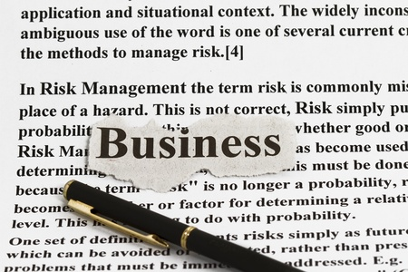 mangement: Risk management with business cutout - abstract for risk management in business.