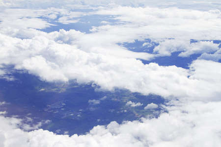 View above the earth at the clouds below Stock Photo - 12232851