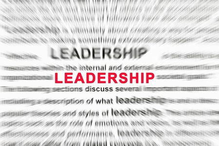 Background concept wordcloud illustration of leadership Stock Illustration - 12585142