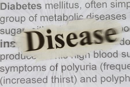 illustration of disease with blur description of diabetes illustration