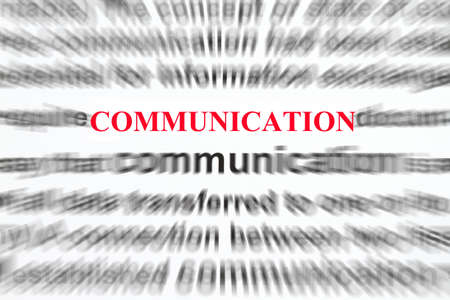 disseminate: Focus On Communication with blurred background definition