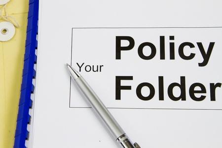 manila envelop: Policy folder