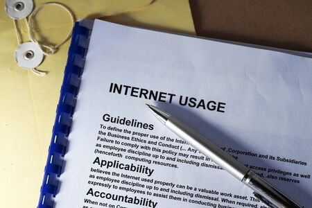 manila envelop: Internet usage abstract with internet definition of company rules for internet usage