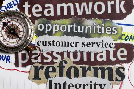 integridad: Brújula abstracta para dirección de la empresa y las metas