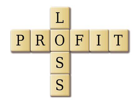 profit loss: profit and loss concept  Stock Photo