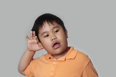 pinoy: Do you hear that concept in a gray background