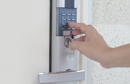 home security system: Signaling of domestic safety door combination - concept for security