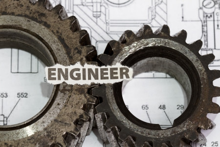 The engineerabstract - wuth cutout and gear parts. Stock Photo - 14084245