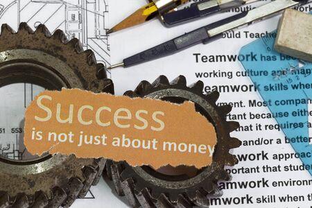 Succes is niet alleen om geld abstract Stockfoto