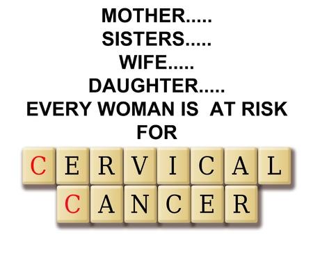 cervicales: Resumen de cáncer de cuello uterino con la definición y el rompecabezas de palabras cruzadas azulejo