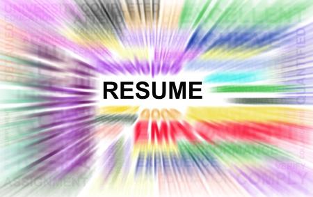 Resume powerful words illustration high resolution digital