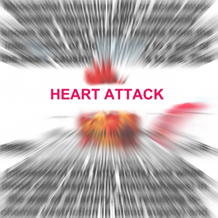 Heart attack in a radial blur background abstract  photo