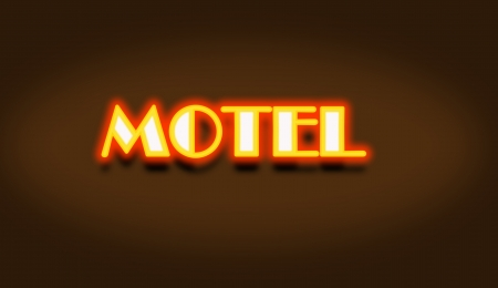 Motel Cottage Inn Motel neon light Sign photo