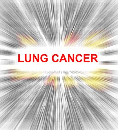 insides: focus on Lung cancer radial text abstract Stock Photo