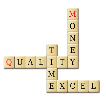 business organization basis crossword quality time and money photo